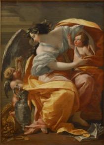 Simon Vouet (1590-1649), La Richesse ou Allégorie de la Richesse, vers 1640, huile sur toile, Paris, musée du Louvre © Musée du Louvre, dist.RMN-Grand Palais / Angèle Dequier.