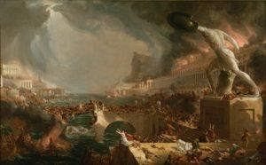 Thomas Cole (1801-1848), Le Destin des empires. La Destruction, 1836, huile sur toile, New York, collection de la New York Historical, Society © The New York Historical Society.