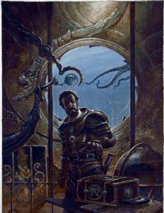 Didier Graffet, Portrait du capitaine Nemo, 2013, acrylique sur carton (MJV C498)